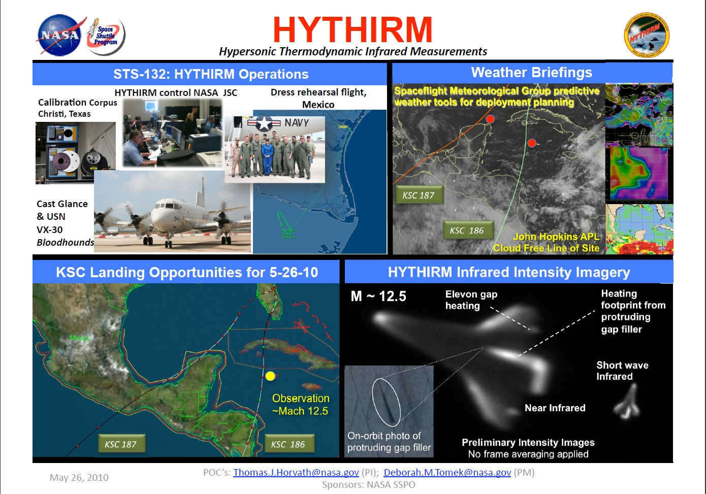 Graphic with examples of HYTHIRM's thermal imagery and assets used to capture it