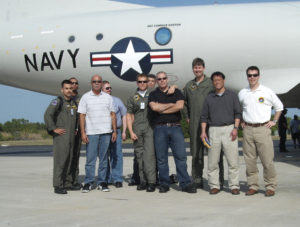 Crew of the Cast Glance Navy P-3 on STS-119