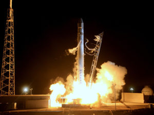 The launch of the Falcon 9 Rocket and Dragon Capsule for C2 Image Credit: SpaceX