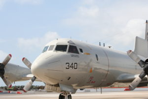 Navy P-3 sitting ready for the mission