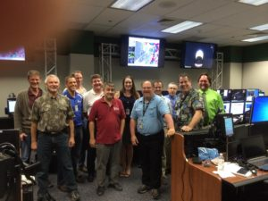 The team in mission control