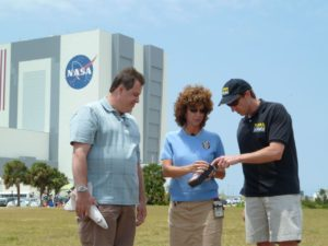 Principle Investigator Tom Horvath explaining HYTHIRM's work on a NASA Edge broadcast